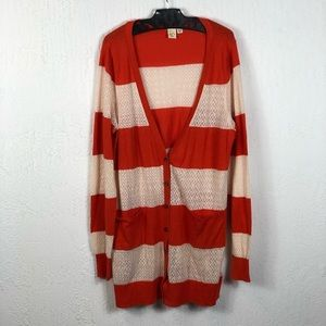 NWOT Anthropologie Knit Cardigan Size XL